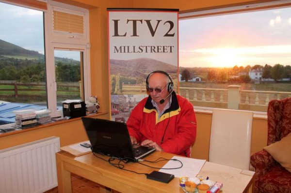 T.T. broadcasting at sunset