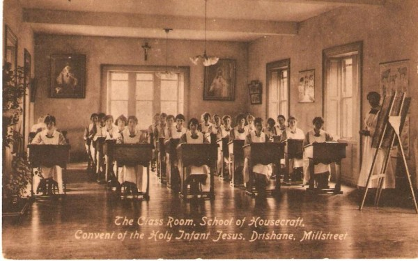School of Housecraft - Convent of the Holy Infant Jesus, Drishane - postcard