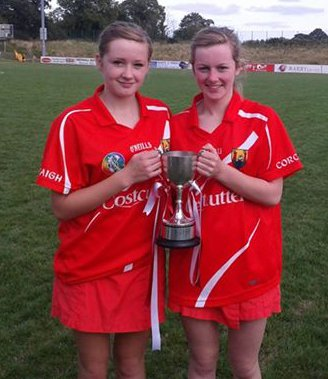 2013-08-31 All Ireland U16 B Camogie Champions with Cork - Máire O Connor and Lydia O'Reilly