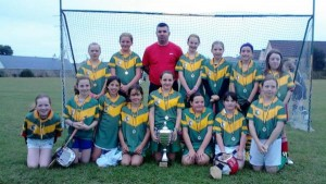 2013--8-24 Millstreet U11 Camogie team which won the Avandhou U11B League
