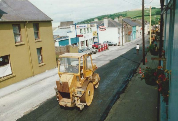 Yesterday we featured Dan Hallissey in Minor Row - Here we are back in Minor Row again getting a panoramic view from the upstairs of my original home in The Square.   This resurfacing of the road was taking place in the 1970s.