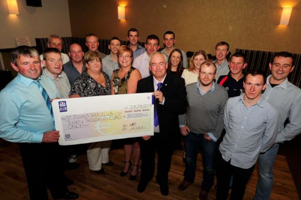 St. John's All-Ireland Sheep Shearing Cheque Presentation