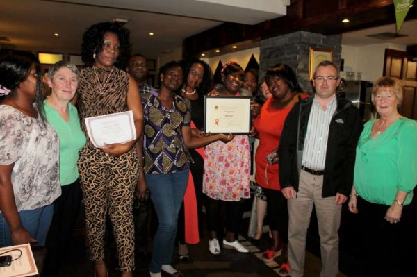 International supporters and local members who were awarded the prestigious 2013 Cork Co. Anti-litter First Prize Award.