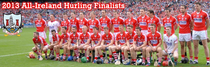 2013-08-11 Cork Senior Hurlers before the Dublin Semi-Final - second from right is Mark Ellis