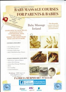 2013-09-22 Baby Massage Course for Parents and Babies - poster
