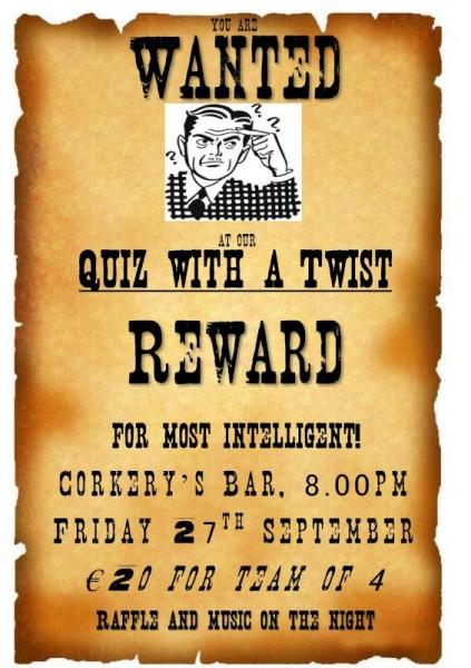 2013-09-27 Macra Wanted Quiz - poster