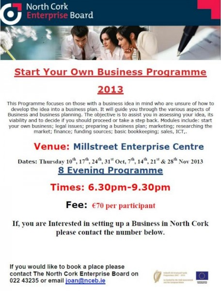 2013-09 Start your Own Business - poster