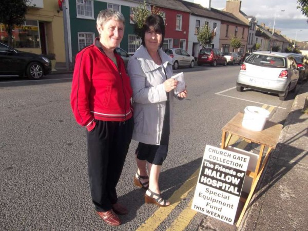 People were most generous towards our church gate collection this weekend in aid of The Friends of Mallow Hospital Special Equipment Fund.  Here we see Mary Kelleher and Breeda O'Leary who very kindly helped to coordinate the collection on both days.  Here on Saturday night we were blessed but just look (below) at the effect the high winds and rain had on us on this morning!   Weather certainly makes a big difference.   The Los Zarcos Car Boot Sale was also affected by this morning's challenging weather.   Later in the week we shall report on the full amount collected for the praiseworthy cause.   Click on the images to enlarge.  (S.R.)
