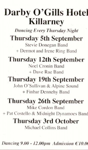We thank John Joe Herlihy of Knocknagree for this Dancing Schedule.  Click on the image to enlarge.  (S.R.)
