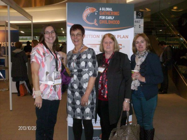 Rathcoole Playschool Staff with Lucy Connolly ( Early Childhood Specialist) at the Early Childhood Global Gathering on October 19th. in the Aviva Stadium Dublin.