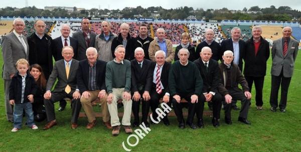 2013-10-08 The Cork 1973 All Ireland winning Football Team - awarded at the County Football Finals in Páirc Uí Caoimh - photo by Cork GAA