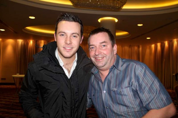 Nathan Carter with Seán Murphy at Galway Concert in the Salthill Hotel - Nathan give an outstanding performance at the Concert.