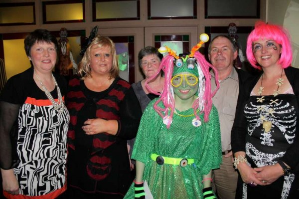 Here we feature the three winning entries plus one of the many very colourful groups who participated in Friday night's Annual Fancy Dress event at the Wallis Arms Hotel, Millstreet.   Usually we feature lots more images from the consistently enjoyable occasion....and this we shall again do this year but because we've used up most of our bandwidth allocation for October we shall have to wait until the beginning of November to share a much fuller feature of images.   Apologies for this delay but it was due to a temporary technical problem which is corrected for future months.  Click on the images to enlarge.  (S.R.)