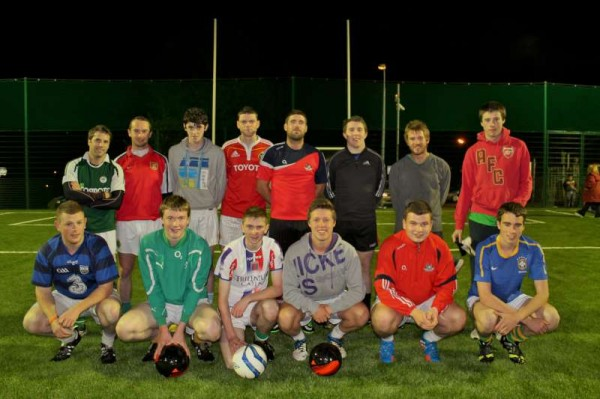 Millstreet Celtic Soccer Club had the historic honour of being the first Club to play under the flood lights of the magnificent new Astro Turf Facility at Millstreet Town Park.   It was Cllr. Noel Buckley and Mairéad Daly who officially turned on the lights for the first time while further member of the Astro Turf Committee attended on Thursday, 17th October 2013.   Click on the images to enlarge.   (S.R.)