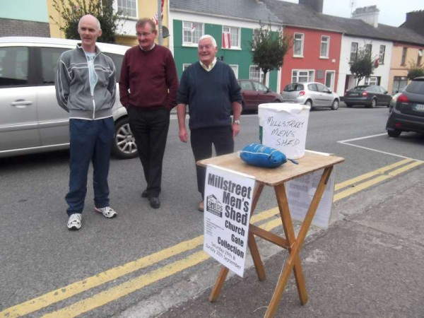 Millstreet Men's Shed wish to express sincere thanks for the generous response to their Church gate Collection which took place on 28th/29th September 2013.  Click on the images to enlarge.  (S.R.)