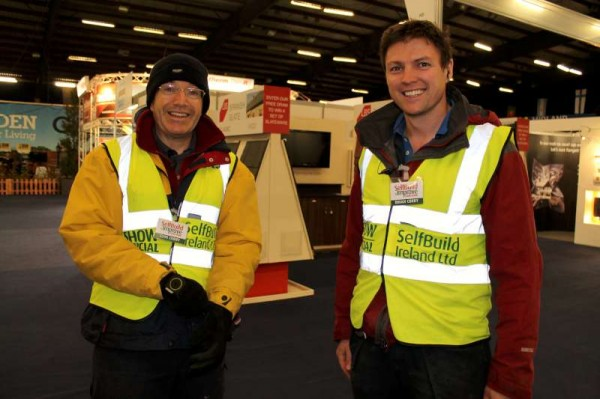 Clive & Brian Corry coordinating preparations at Green Glens on Thursday for this weekend's ever popular Self Build and Improve Your Home Show.  Click on the images to enlarge.  (S.R.)