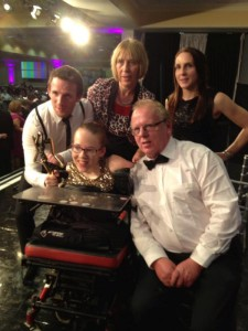 2013-11-09 TG4 Ladies All Stars - Joanne O'Riordan with her family