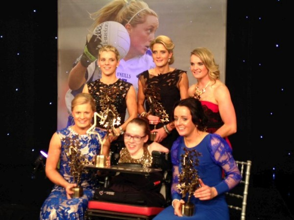 2013-11-09 TG4 Ladies All Stars - Joanne O'Riordan with the Cork All Stars