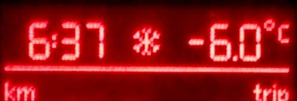 The temperature hit -6C this morning on the Drishane Road