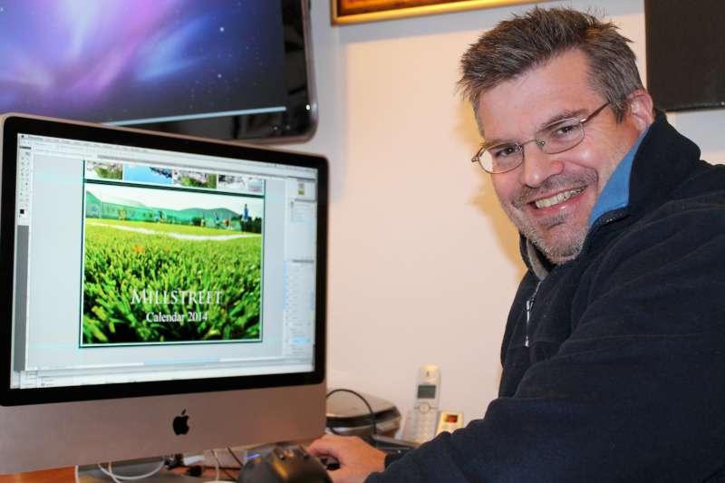 Justin Black of Justborn Photography preparing Millstreet Calendar 2014