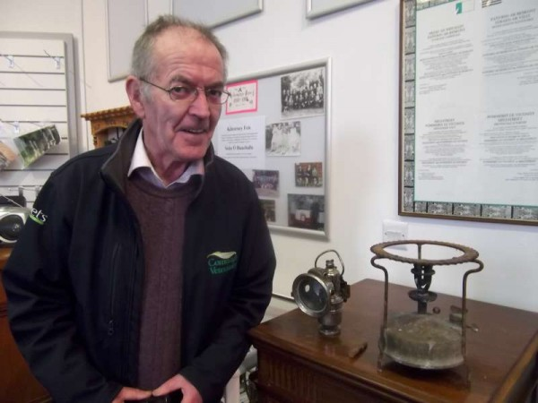 "We extend sincere thanks to Denis Healy for three much appreciated items for Millstreet Museum - a Carbide Lamp (used on bikes in bygone days), a spent cartridge bullet from the famous ""Aud"" Ship which was so significant in the 1916 period (This is a hugely historic item) and a Primus which was in common use in homes at on picnics by the beach!  Click on the image to enlarge.  (S.R.)"