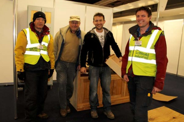 Clive and Brian pictured with Donal & Gerard Murphy of Newmarket - one of the many prestigious exhibitors at the Show.