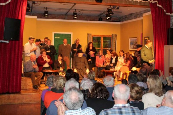 """In the currently running Play at Banteer's Glen Theatre - """"Destiny of Fools"""" by Michael Dennehy directed by Noreen Duggan - there is a wonderful cast of twenty very talented Actors.   The superb Drama continues its run on Friday, 22nd and Sunday, 24th Nov. 2013 at 8.30pm.  Bookings at 029 56239.  Click on the images to enlarge.  (S.R.)"""