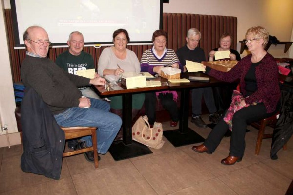 Members of the wonderfully dedicated Local Lotto Team meeting at the Wallis Arms on Sunday night coordinating the weekly Draw.   Great credit is due to this Voluntary Committee who held to fund so many praiseworthy projects in our area.   Click on the image to enlarge.  (S.R.)