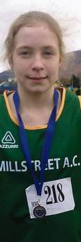 2013-12-01 Emily Ring, with her gold medal from the Munster Cross Champinships