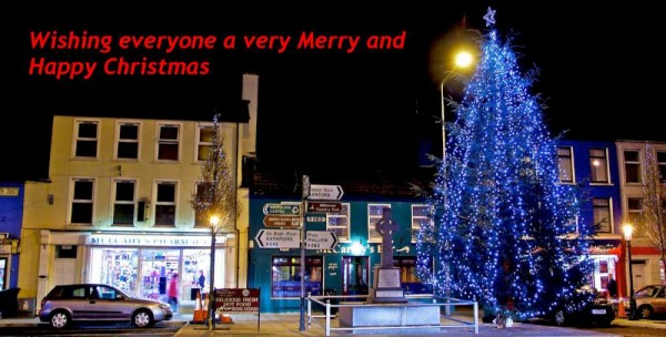 2013-12-09 The Square, Millstreet with this years Christmas Tree - photo by Justborn Photography