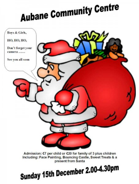 2013-12-15 Santa at Aubane - poster