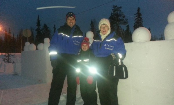 2013-12-19 Niall, Conor (from South Africa) and his Nana, Margaret Moynihan, Killarney Rd, Millstreet in Lapland to see Santa