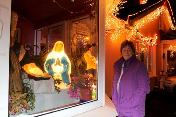 Noreen has created one of the most attractive Christmas Light features at her home in Drishane Road over the years that it has now become such a delightful part of the Millstreet Christmas Scene greatly admired by many from far and near.
