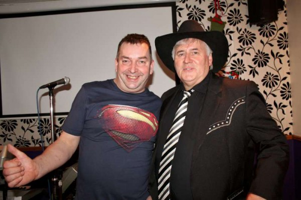 Seán Murphy of The Pub in Carriganima pictured with special guest the renowned T.R. Dallas who performed a magnificent presentation at The Pub on Friday, 20th Dec. 2013 before a capacity attendance.  More pictures later.  Click on the images to enlarge.  (S.R.)