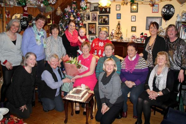 A wonderful surprise awaited Noreen Dennehy at the home of Pat and John Randles in Minor Row just before Christmas when a group of great Friends and Relatives organised a special 60th Birthday Surprise for Noreen.   She was truly surprised but was so very pleased.   Noreen has given so much time, dedication and effort especially to Millstreet Tidy Towns Association.   Click on the images to enlarge.  (S.R.)