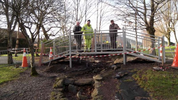 Further truly uplifting developments are presently taking place in Millstreet Town Park with the Bridge Replacement from the original attractive timber structure to this new magnificent steel bridge - the work of David .and his dedicated Staff of Vanhalen Ltd. of Liscreagh, Millstreet