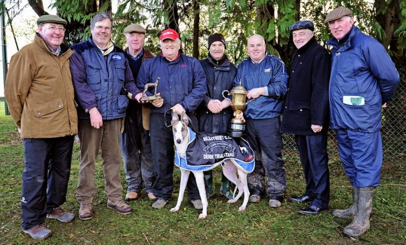 2014-01-04 Millstreet Coursing Club celebrated their 100th meeting this year where Echo Johnny won the Derby Trial Stake-800