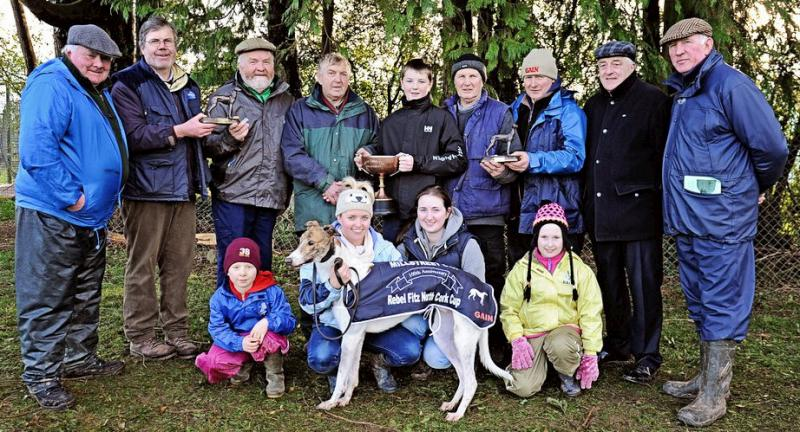 2014-01-04 Millstreet Coursing Club ran their 100th annual meeting this week where Cracking Lord won the All Age Cup, trained in Cork by John Kiely-800
