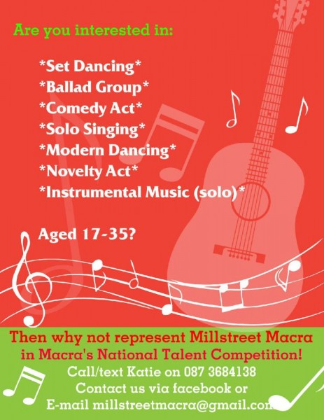 2014-01-08 Represent Millstreet Macra in Macra's National Talent Competition