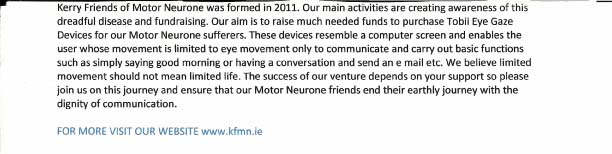 Motor Neurone Extra 2014