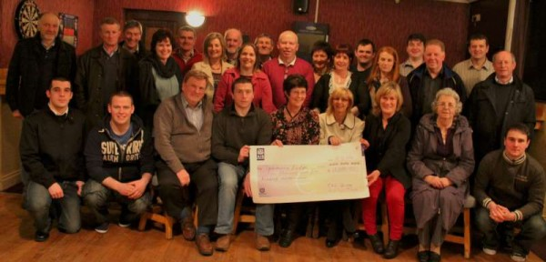 "Members of the splendid Rathmore Pantomime present for the cheque presentation at ""The Star Bar"", Rathmore on Thursday, 27th February 2014."
