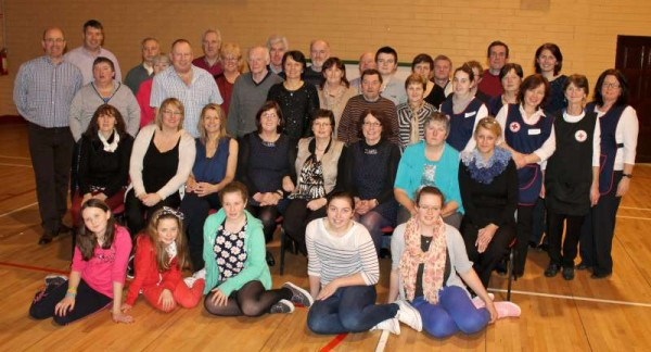 The splendidly dedicated Team of Organisers at Sunday's (16th Feb.) Seniors Party in Dromtariffe Community Hall.