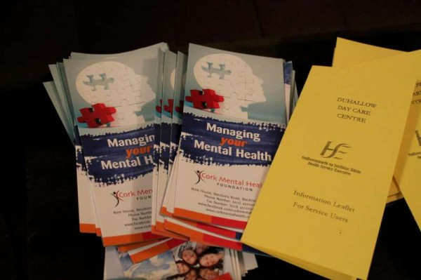 Some of the excellent information leaflets available at the event.   Lots more information on www.corkmentalhealth.com