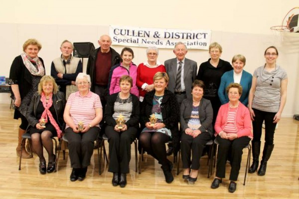 Cullen & District Special Needs Association brought its ten-week sponsored weight-loss programme to a very successful conclusion on Monday night at the newly renovated Cullen Community Centre.   In excess of 800lbs were lost over that period and more that €4,000.00 was fundraised.   Click on the images to enlarge.  (S.R.)