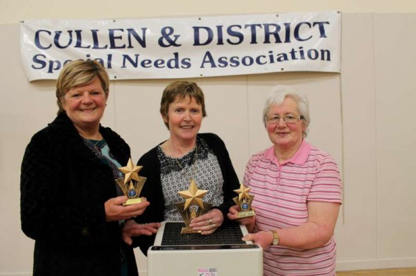 Winners in the Ladies Weight-loss Programme - from left Pauline Reen, Boherbue; Breda Fitzgerald, Millstreet;  Mary Murphy, Kiskeam.  In the Men's category - Anthony Barry of Station Rd., Millstreet was first with a very impressive weight loss of 37lbs..