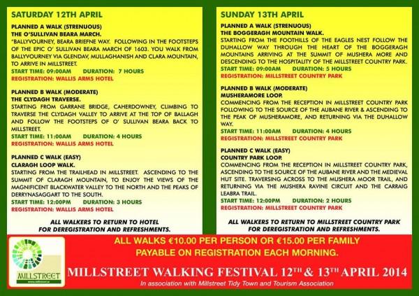 2014-03-20 Millstreet Hillwalking Festival Brochure - back pages