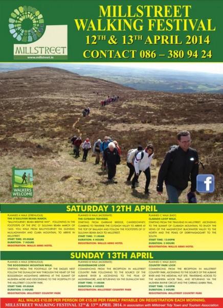2014-03-20 Millstreet Hillwalking Festival Brochure - front page-