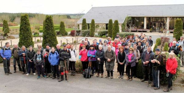 With the exquisitely scenic Millstreet Country Park as the starting and finishing points of the three walks of different levels - Day Two of Millstreet Walking Festival on Sunday, 13th April 2014 was an outstanding success with very large numbers of enthusiastic walkers participating.   Click on the images to enlarge.  (S.R.)