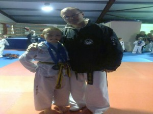 2014-03-03 Joshua O'Sullivan with his trainer Don Dalton