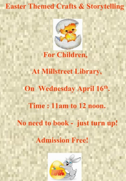 2014-04-09 Easter Themed Crafts and Storytelling at Millstreet Library